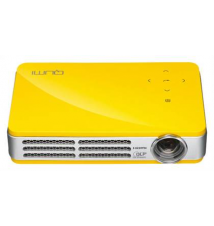 Vivitek - Qumi Q5 Pocket Projector - Yellow Best Buy