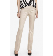 COTTON SATEEN BARELY BOOT COLUMNIST PANT Express