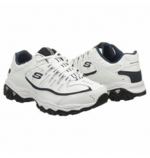 Skechers Men's M FIT REPRINT WIDE White/Navy Famous Footwear