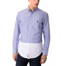 Slim Fit Color Block Oxford Shirt