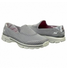 Skechers Women's GOWALK 3 Charcoal Famous Footwear