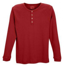 Levi's 300 Series Rib Long Sleeve Henley - Men's Footaction