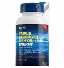GNC Energy Formula TRIPLE STRENGTH FISH OIL 1240 GNC