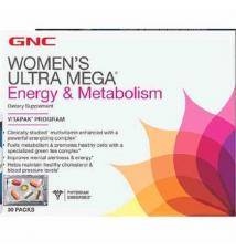 GNC Energy Formula WOMEN'S ULTRA MEGA® Energy & Metabolism VitaPak GNC