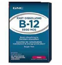 GNC Energy Formula FAST DISSOLVING B-12 5000 MCG GNC