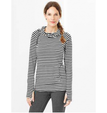 GapFit Breathe long-sleeve stripe hoodie Gap