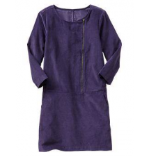 Corduroy zip shift dress Gap