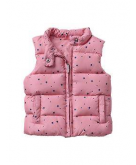 Warmest printed puffer vest Ga..