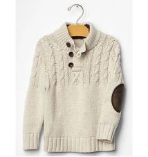 Sherpa mockneck cable sweater Gap