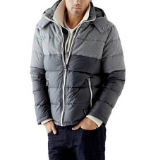 Nylon and Wool Mixed Puffer Jacket Guess