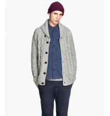 Cable-knit Cardigan H&M