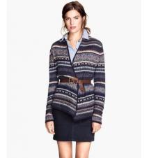 Jacquard-knit Cardigan H&M