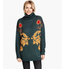 Jacquard-knit Turtleneck H&M