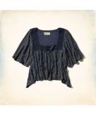 Paradise Cove Peasant Top Holl..