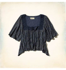 Paradise Cove Peasant Top Hollister