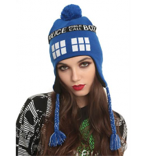 Doctor Who TARDIS Pom Beanie Hot Topic