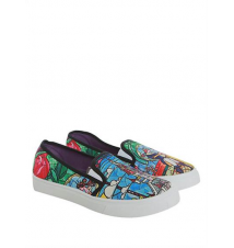 Disney Beauty And The Beast Stained Glass Slip-On Sneakers Hot Topic