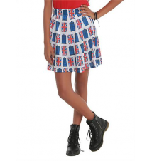 Doctor Who Her Universe Union Jack TARDIS Skirt Hot Topic