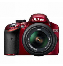Nikon D3200 Digital SLR Camera With AF-S DX NIKKOR 18-55mm 1:3.5-5.6G VR Lens - Red Fry's Electronics