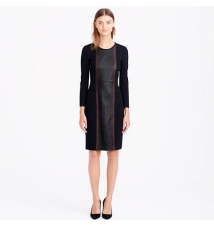 Leather panel dress J Crew