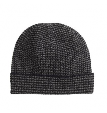Lambswool marled glen plaid hat J Crew