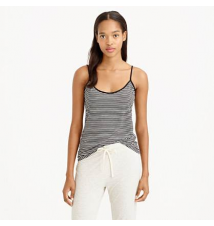 Whisper jersey cami in stripe J Crew