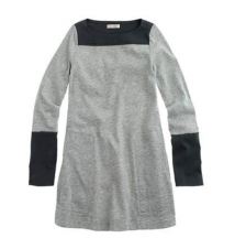 Girls' boatneck tunic in colorblock J Crew
