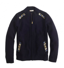 Girls' jeweled sweater-jacket J Crew