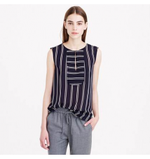 Drapey keyhole top in stripe J Crew
