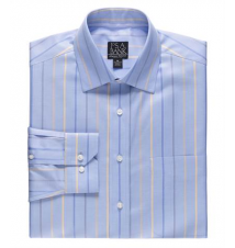 Signature Long-Sleeve Wrinkle-Free Cotton Spreadcolor Sportshirt JoS. A. Bank