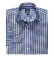Signature Long-Sleeve Wrinkle-Free Cotton Spread Collar Sports Shirt JoS. A. Bank