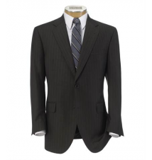 Signature Gold 2-Button Wool Suit- Olive Two-Color Stripe JoS. A. Bank