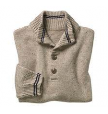 Quarter-Button Tweed Sweater Johnston & Murphy