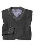 Plaited V-Neck Sweater Johnsto..