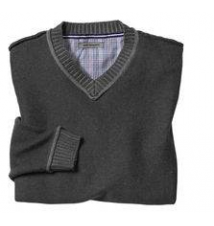 Plaited V-Neck Sweater Johnston & Murphy