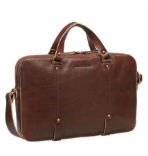 Slim Zip-Top Briefcase Johnston & Murphy