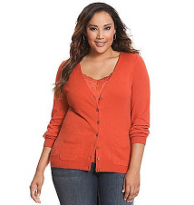 Patch pocket cardigan Lane Bryant