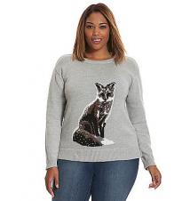 Fox intarsia sweater Lane Bryant