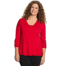 Merino V-neck sweater Lane Bryant