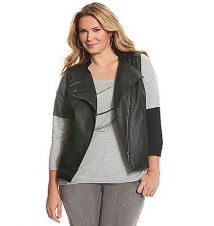 Faux leather moto vest Lane Bryant