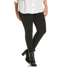 Control Tech ponte skinny with studs Lane Bryant