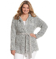 Belted hoodie sweater Lane Bryant