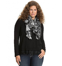 Lace hem sweater Lane Bryant