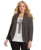 Metallic cocoon sweater Lane B..