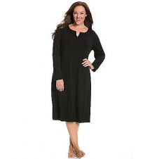 Long sleeve modal sleep maxi Lane Bryant