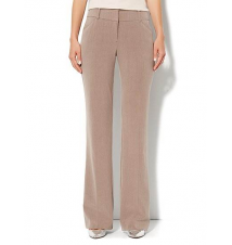 7th Avenue Bootcut Pant - Pale Mocha Heather - Average New York & Company