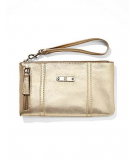Faux-Leather Side-Zip Wristlet..