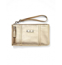 Faux-Leather Side-Zip Wristlet New York & Company