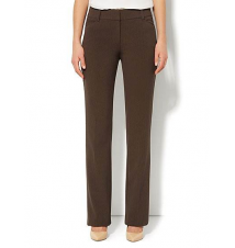 Bleecker Street Straight Leg Pant - Brown Heather - Tall New York & Company