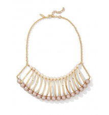 Faux-Pearl Accordion Necklace New York & Company